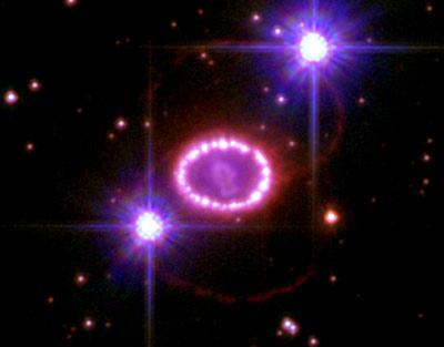Resultado de imagen de La supernova titánica, llamada SN 1987A
