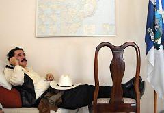 Zelaya en la embajada de Brasil en Honduras